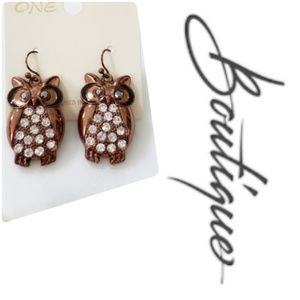 🌟NWT🌟 New Chocolate Colored Owl Earrings